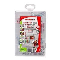 Fischer 540093 Meister-Box Dowel 分类匹配螺丝,适用于多种建筑材料和多功能应用双向器 6 x 30、8 x 40 Duotec 10-87 零件编号灰色