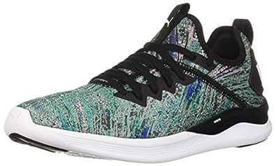 PUMA 女士 Ignite Flash Evoknit 运动鞋 Navigate-puma Black-puma White 7 M US