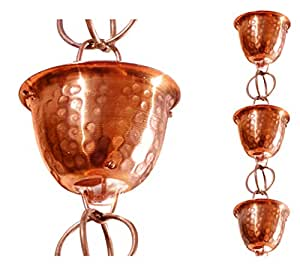 Monarch 纯铜锤锻杯防水链,8-1/2 英尺长