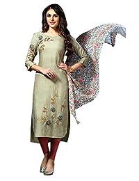 Ladyline 设计师 Kurtis 束腰外衣带围巾刺绣派对服印度 Kurti 女式衬衫