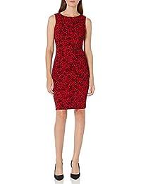 Calvin Klein 卡爾文·克萊恩 女式 無袖緊身連衣裙 starburst細節裝飾