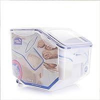 LOCK&LOCK 乐扣乐扣 日式米桶塑料储米箱 (12L) 透明 HPL510-CHS(亚马逊自营商品, 由供应商配送)