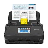 富士通 ScanSnap iX1500 彩色双工文件扫描仪带触摸屏,适用于Mac和PC(黑色型号)