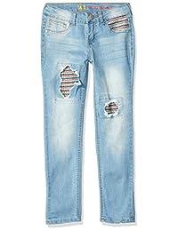 LEE 女童时尚修身牛仔裤