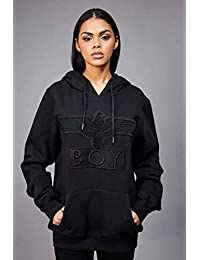 BOY LONDON 中性 卫衣 BOY APPLIQUE HOOD 1568001