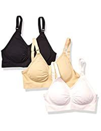 Vanetti 3 Pack Cotton Wireless Seamless Nursing Maternity Bra Brallette - XS-XL