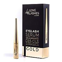 Long4Lashes 金色 4 毫升 - 新型睫毛精华,高容量 - Superlative 精华液 - 用植物配料制成的 *睫毛增长 | Superstar *4毫升