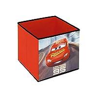 Ardite x WD12124 Cars3 收纳盒,深红色,31 x 31 x 31 厘米