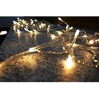 AMARE LED 真蜡蜡烛 2 件套 白色 7.5 x 12.5 厘米 (宽 x 高) 适用于室内蜡烛,真蜡铜 白色 Lichtervorhang 96 LED - 165 cm Breite 9700-7006-101