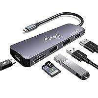 【Amazon.co.jp 限定】USB C 集线器 6in1 Type C 集线器 4K HDMI输出 高速 USB3.0端口 SD/Micro SD读卡器 PD供电转换适配器