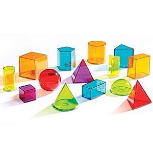 Learning Resources View-Thru 几何立体组合, 14 件套