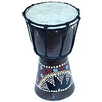 Holy Land Market 出品的金杯鼓和马克杯鼓,耶路撒冷彩色圆点 - 小号(19 厘米或 7.5 英寸高)