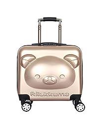 未来神童 男童女童儿童可爱3D卡通18寸小熊拉杆箱儿童拉杆箱行李箱登机箱旅行箱