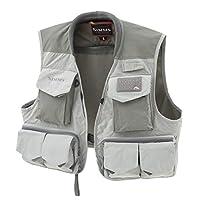 Simms ?one 釣魚背心 – 戶外背心帶 19 個口袋 – 輕便透氣無袖釣魚夾克