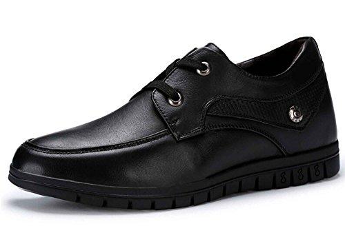 Guciheaven 古奇天伦 时尚英伦风内增高商务休闲鞋 低帮工装皮鞋 简约低帮圆头驾车鞋 系带正装鞋男鞋