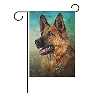 My Daily German Shepherd Dog 复古装饰双面花园旗帜 30.48 x 45.72 cm 和 71.12 x 101.6 cm 12 x 18 inch
