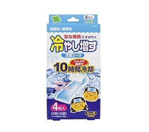 日本纪阳除虫菊 大人用薄荷香退热贴4枚 退烧贴 感冒贴降温贴 成人退烧贴