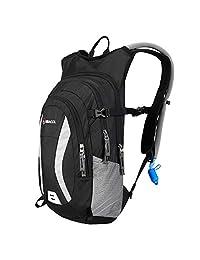 MIRACOL 水袋背包,帶 2 升自動關閉水囊,隔熱水袋背包,適合徒步旅行、騎自行車、跑步、登山、騎自行車、露營裝備