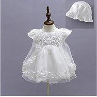 micialuxury 新生儿 蕾丝雪纺 婴儿裙 吊带连体衣&带蕾丝开衫 白色 12month