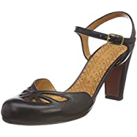 chie mihara 女式 queral 踝带凉鞋 schwarz (TAICHI negro) 6.5