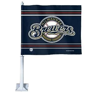 MLB Milwaukee Brewers Car Flag