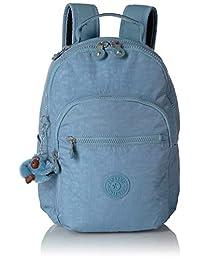 Kipling Seoul Go Small, Padded, Adjustable Backpack Straps, Zip Closure, Blue Beam Tonal