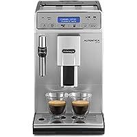 De'Longhi 德龍 Autentica Plus 全自動咖啡機,卡布奇諾,濃縮咖啡,ETAM29.620.S,銀色,黑色