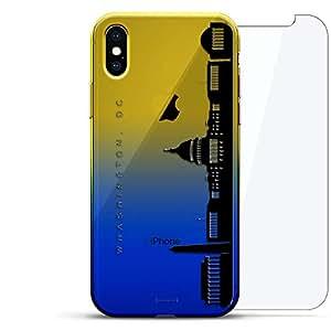 Luxendary 渐变系列 360 套装:透明超薄硅胶保护套 + 适用于 iPhone Xs Max 的钢化玻璃(6.5 英寸)LUX-IMXCRM2B360-DC1 LANDMARKS: Washington DC Skyline 蓝色(Dusk)
