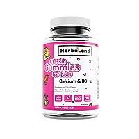 Herbaland 儿童钙+维生素D3软糖60粒/瓶 加拿大原装进口 天然 果胶 骨骼发育 促进钙吸收(包邮包税)