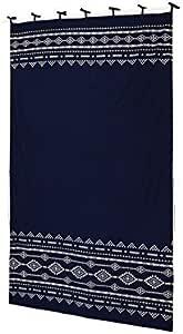 TOMOCORPORATION 窗帘 挂毯 105×178cm 藏青色 サイズ/W約105cm×H約178cm -
