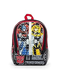 Transformers Split Face Buddies! 16 inch Red and Yellow Backpack