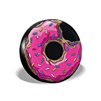 MSGUIDE 甜甜圈备用轮胎盖防风雨轮胎保护套适用于吉普拖车房车 RV SUV 卡车和许多车辆(14 英寸 15 英寸 16 英寸 17 英寸)