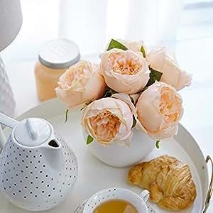 人造牡丹丝绸花束适用于婚礼花卉 arrangements 和家居装饰