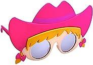 Sun-Staches Cowgirl Lil' 角色太阳镜儿童派对喜爱儿童阴影 U