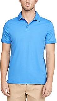 Calvin Klein 男士液體棉條紋 Polo 衫