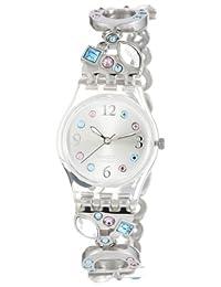 瑞士品牌 Swatch 斯沃琪石英银色石英女表-心曲 LK292G