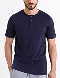 HANRO 男式夜间和日间短袖亨利衫
