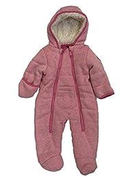 防风雨婴儿女孩粉红色斑点防雪服婴儿 Pram 夏尔巴雪服
