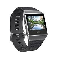 Fitbit 修身刀头智能手表 Ionic ** パーソナルコーチ 配备 GPS 游泳防水 Charcoal/Smoke Gray