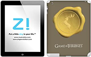 Zing Revolution Game of Thrones Premium Vinyl Adhesive Skin for iPad 2/iPad, Baratheon Seal Image, MS-GOT240351