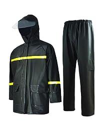 男士防水西装加厚工作服雨衣 0.60 mm PVC 2 层 M (67''~69'') *