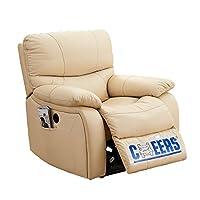 CHEERS 芝华仕 功能沙发 真皮电动可躺带USB充电单人位沙发831B 米黄色 K831BM(标价仅为商品价格,如需运送/安装,请咨询客服具体费用。咨询电话:400-688-9099 QQ:648538692/3478725759)(亚马逊自营商品, 由供应商配送)
