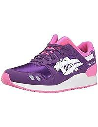 ASICS Gel Lyte III GS Running Shoe (Big Kid) 紫色/白色 7 M US Big Kid