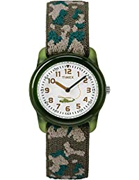 Timex 兒童 腕時計T78141  Analog Elastic Fabric Camouflage T781419J casual-watches