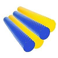 Lazy Floats 泡沫泳池面大圆形高级户外水上浮漂(蓝色,黄色4件装)
