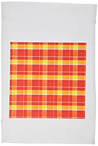 777images Designs 3–L 码红色和黄色国家格子–旗帜 12 x 18 inch Garden Flag