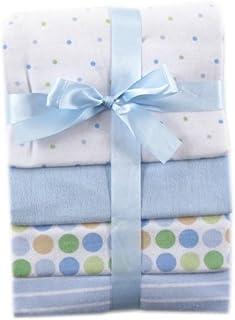 Luvable Friends 4 件套法兰绒裹毯套装 蓝色 均码