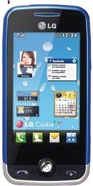 LG GS290 Cookie Fresh GSM 四頻解鎖手機,帶 2 MP 攝像頭,3 英寸 WQVGA 顯示屏,FM 收音機和卡槽(藍色) - 國際版無保修