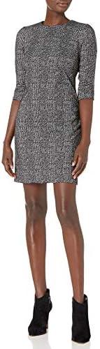 Calvin Klein 女士七分褶袖连衣裙