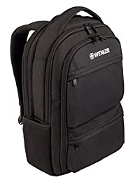 Wenger 600630 FUSE 16 英寸笔记本电脑背包,加垫笔记本电脑隔层带 iPad/Tablet / 黑色电子阅读器口袋{20 升}